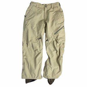 BURTON Men's Tan/Brown AK Gore-Tex Snowboard Ski Snow Pants Winter Pre-Owned